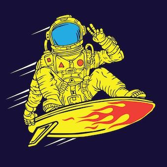 Surfeur spatial astronaute