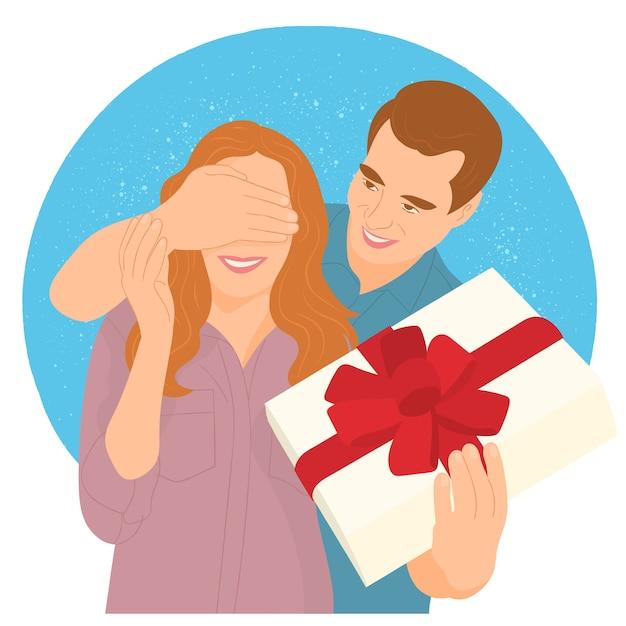 Surprise de cadeau de couple