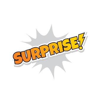 Surprise, salutation, explosion, éclabousser, texte, vecteur