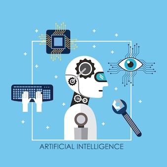 Surveillance de circuit de clavier d'outil de robot d'intelligence artificielle