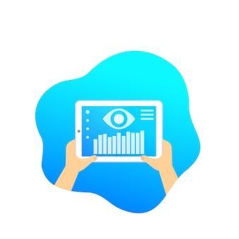 Surveillance des données, logiciel mobile, vecteur