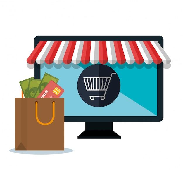 Surveiller la conception en ligne de boutique e-commerce pc