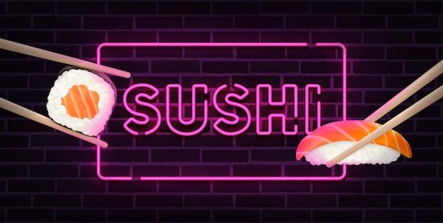 Sushi bar néon chanter