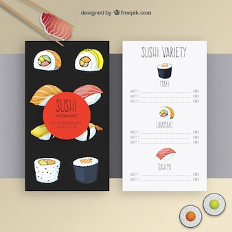 Sushi modèle de menu