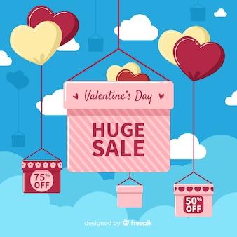 Suspendre les boîtes de fond de vente de valentine