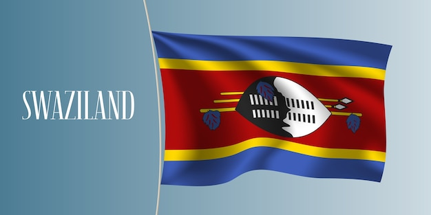 Swaziland, agitant le drapeau illustration vectorielle