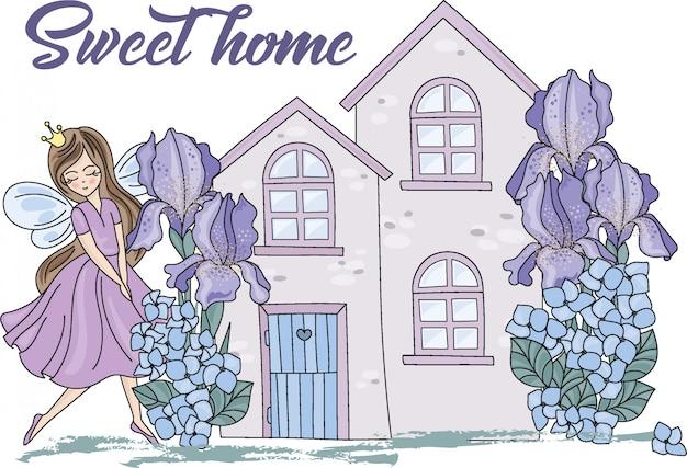 Sweet home illustration couleur de dessin animé