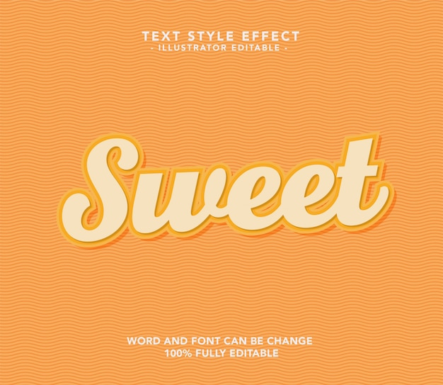 Sweet orange font