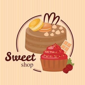 Sweet shop publicité
