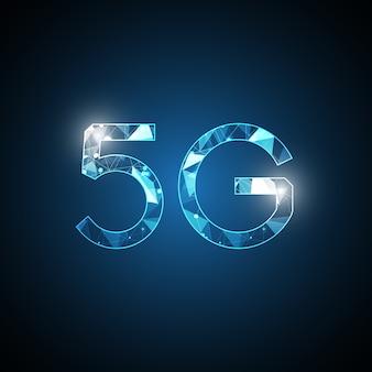 Symbole abstrait de la technologie 5g