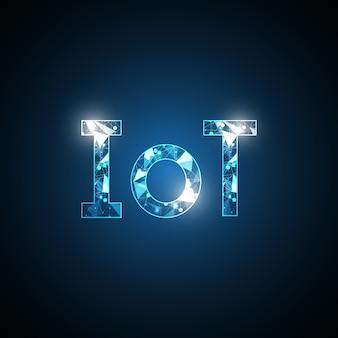 Symbole abstrait de la technologie internet des objets