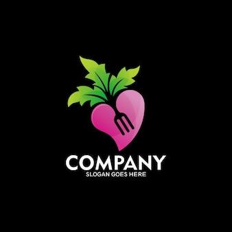Symbole d'amateur de nourriture fraîche, idée de logo de nature, création de logo de nature de fruit