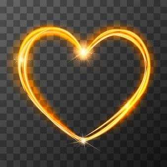 Symbole d'amour flou néon