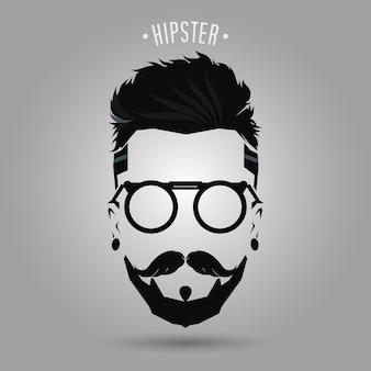 Symbole barbe hipster