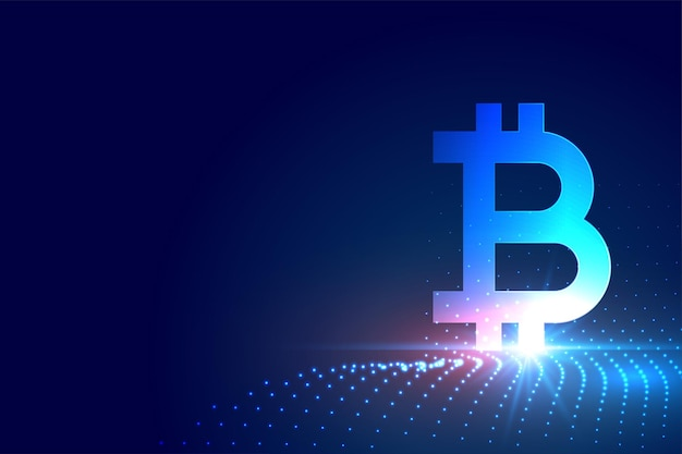 Symbole de bitcoin de crypto-monnaie sur fond de technologie