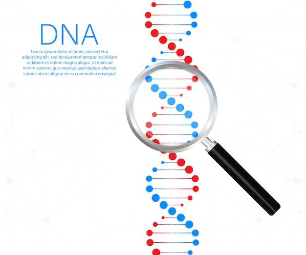Symbole de brin d'adn. génétique de l'adn.