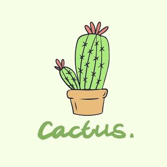 Symbole cactus plante botanique illustration vectorielle