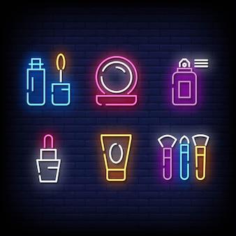 Symbole de casino style d'enseignes au néon