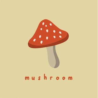 Symbole champignon sur les médias sociaux post illustration vectorielle légumes