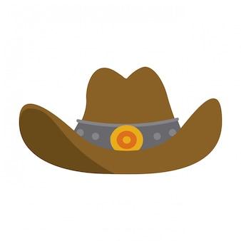 Symbole de chapeau de cowboy