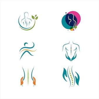 Symbole chiropratique vector icon design illustration template