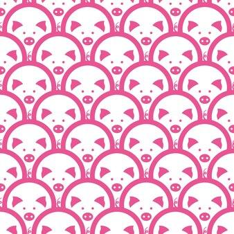 Symbole de cochon du nouvel an chinois 2019. modèle sans couture.