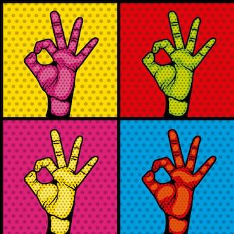 Symbole de collection de jeu humain mains