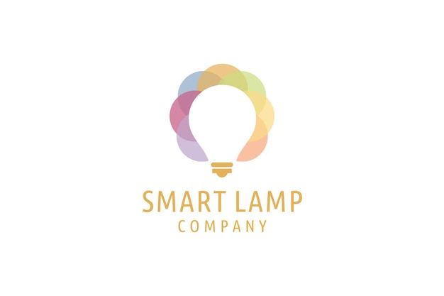 Symbole de conception de logo ampoule de logo d'idées créatives modernes personnes intelligentes