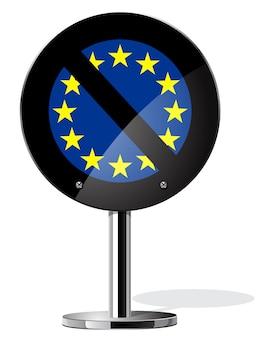 Symbole de concepts de référendum britannique brexit sur sign