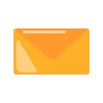 Symbole de courrier. icône de courrier électronique. illustration graphique vectorielle plane isolée sur fond blanc