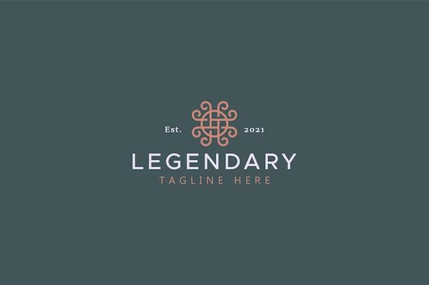 Symbole créatif concept de logo ethnique ancien chinois