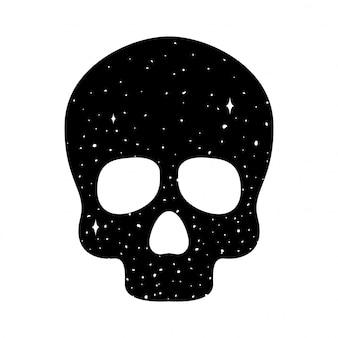 Symbole de dessin animé d'icône de crâne
