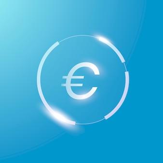 Symbole de devise d'argent de signe d'euro