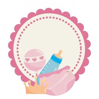 Symbole de douche de bébé isolé