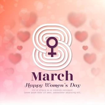 Symbole du 8 mars contexte de la journée des femmes heureux