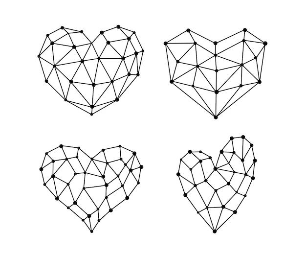 Symbole du coeur sous diverses formes