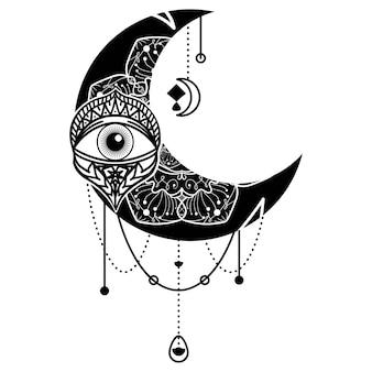 Symbole du contour des yeux du croissant de lune