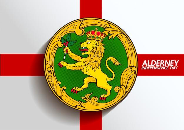 Symbole du drapeau alderney