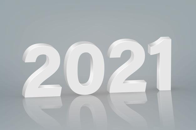 Symbole du nouvel an 2021 sur fond de scène.