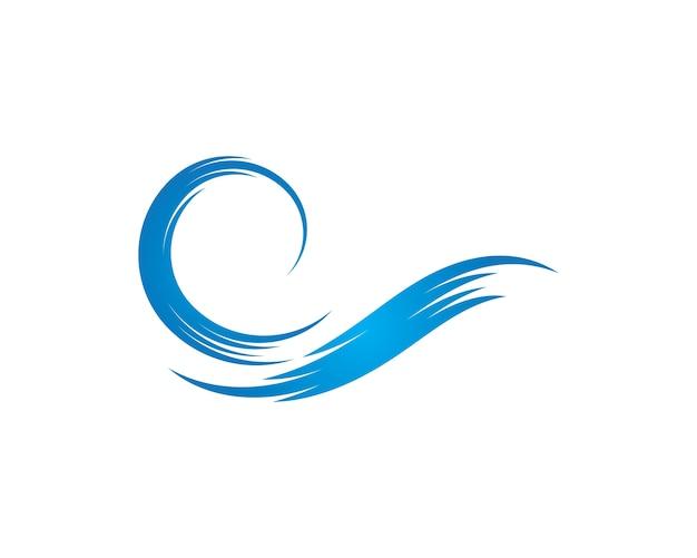 Symbole de l'eau et icône logo template