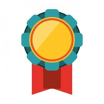 Symbole d'emblème de ruban de récompense