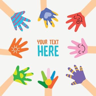 Symbole de l'équipe conceptuelle des mains