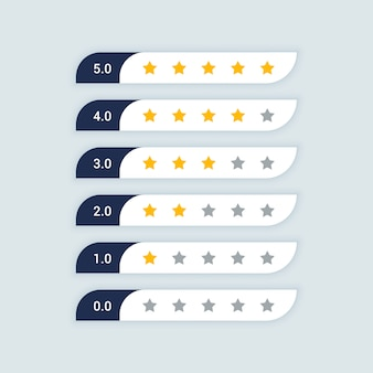 Symbole d'évaluation des commentaires des clients