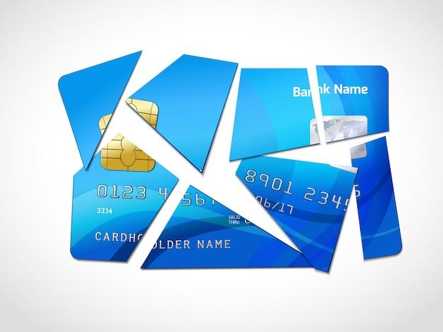Symbole de la faillite de la dette