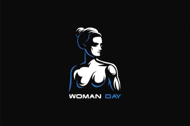 Symbole féminin avec un visage féminin