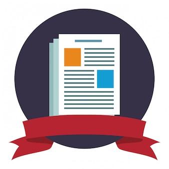 Symbole de feuille de document