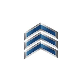 Symbole de la flèche dans un design moderne pour la conception des éléments