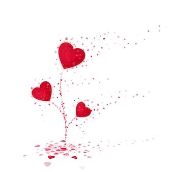 Symbole de fleur coeur rouge de l'amour