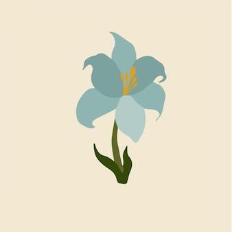 Symbole de fleurs bleues illustration vectorielle florale