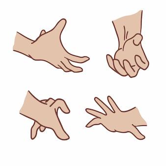 Symbole geste main médias sociaux post illustration vectorielle